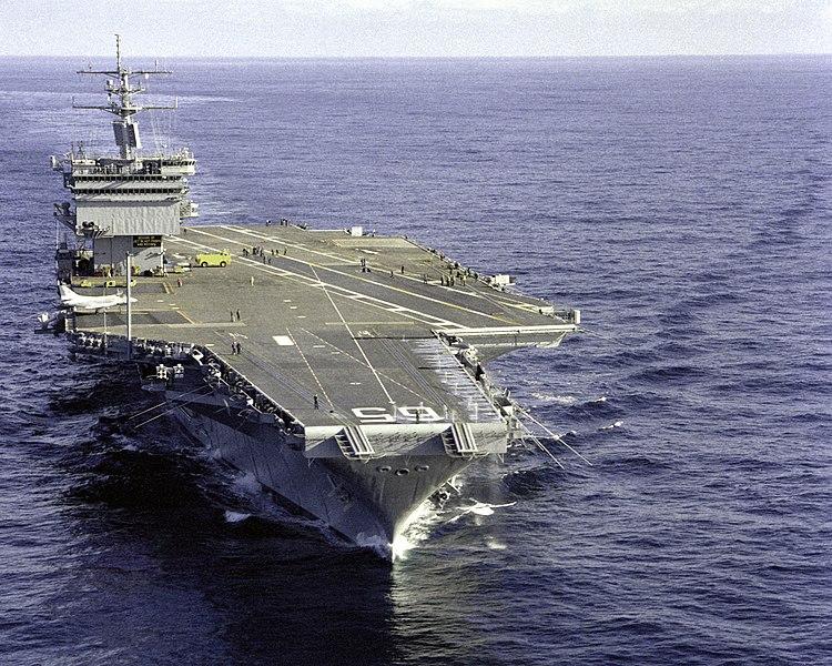 Ficheiro:USS Enterprise (CVN-65), bow view 1983.jpg
