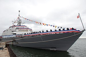 USS Freedom (LCS-1) - LCS-1 during commissioning in 2008
