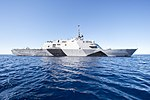 USS Freedom during an Independent Deployer Certification Exercice (IDCERTEX) 150215-N-YW024-102.jpg