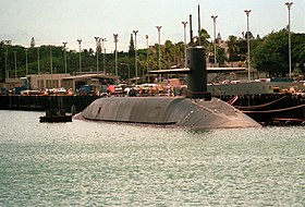 USS Georgia 1988 an der Pier in Pearl Harbor