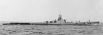 USS Ling - USS Ling (SS-297), wearing camouflage paint scheme in July 1945, during sea trials.