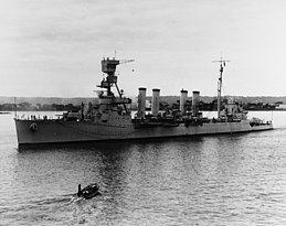 USS Marblehead (CL-12) underway in San Diego harbor on 10 January 1935 (NH 64611).jpg