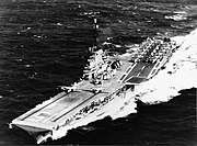 USS Randolph (CVS-15) underway on 25 October 1959 (USN 1059601)