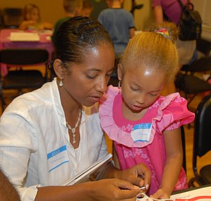Joint attention - A parent and child engage in joint attention