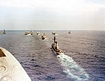 US Carrier Group 8 underway in the Mediterranean Sea in 1987.jpeg
