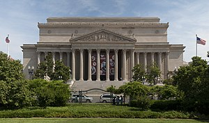 National Archives Building - The National Archives building Constitution Avenue façade