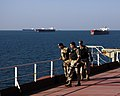 US Navy 051111-N-8163B-012 U.S. Coast Guard and Iraqi Marines conduct Visit, Board, Search and Seizure (VBSS) training operations on board the Al Basrah Oil Terminal.jpg
