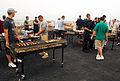 US Navy 070725-N-9760Z-023 Sailors and Marines enjoy a steel beach picnic on the flight deck of nuclear-powered aircraft carrier USS Nimitz (CVN 68).jpg