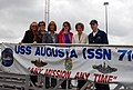 US Navy 071002-N-1595E-317 Members of the Mystic, Conn., Chamber of Commerce tour attack submarine USS Augusta (SSN 716) as part of Submarine Days.jpg
