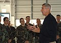 US Navy 071101-N-9860Y-003 Vice Adm. Samuel Locklear, commander of U.S. Third Fleet, addresses members of Explosive Ordnance Disposal Mobile Unit (EODMU) 11 during a familiarization visit to Naval Air Station Whidbey Island.jpg