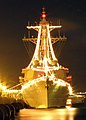 US Navy 071222-N-1008D-009 Guided missile destroyer USS Russell (DDG 59) celebrates the Christmas season with a brilliant illumination of Christmas lights.jpg