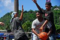US Navy 080823-N-9689V-004 Sailors assigned to the Military Sealift Command hospital ship USNS Mercy (T-AH 19) play basketball with residents of Weno Island at a local field.jpg