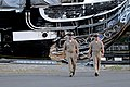 US Navy 090827-N-9818V-693 Master Chief Petty Officer of the Navy (MCPON) Rick West walks with Command Senior Chief David Twiford in front of the USS Constitution.jpg