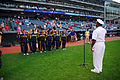 US Navy 100831-N-2903M-110 Rear Adm. Julius S. Caesar, right, vice director of Joint Concept Development ^ Experimentation at U.S. Joint Forces Command, swears in 12 applicants from Naval Recruiting District Ohio.jpg