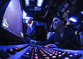 US Navy 100921-N-9950J-091 Air Traffic Controller Airman Chelsea Pitchford monitors an air approach radar console in the amphibious air traffic con.jpg