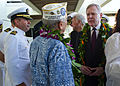 US Navy 111207-N-AC887-002 Secretary of the Navy (SECNAV) the Honorable Ray Mabus greets a survivor of the attack on Pearl Harbor at the Pearl Harb.jpg