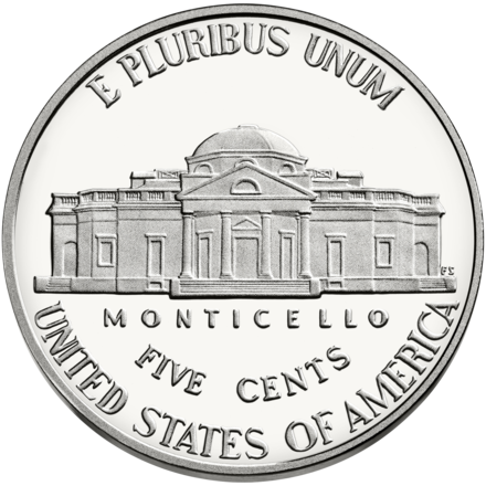Monticello nickel coin