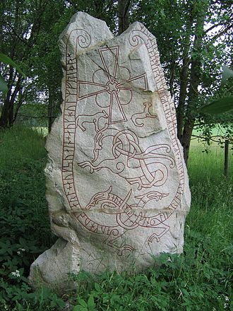 Runestone - The Lingsberg Runestone, Sweden, known as U 240