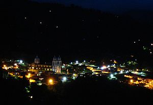 Ubaque - Ubaque at night