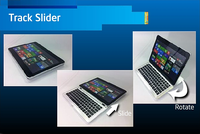 Ultrabook track slider design