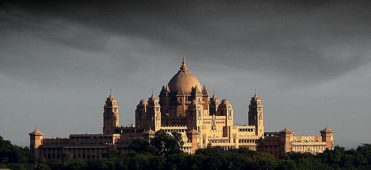 This image has an empty alt attribute; its file name is 1280px-Umaid_bhavan_Palace%2C_Jodhpur.jpg
