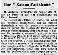 Une Saison Parisienne - L'Homme libre - 5 janvier 1923.jpg