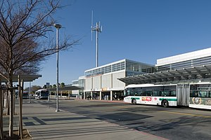 Union City station - Main entrance and bus bays in 2013
