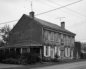 Thomas Day (North Carolina) - Thomas Day's residence and workshop, Union Tavern, Milton, NC.
