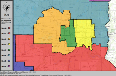 United States Congressional Districts in Minnesota (metro highlight), 2003 – 2013.tif