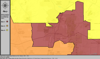 United States Congressional Districts in New Mexico (metro highlight), 2003 – 2013.tif
