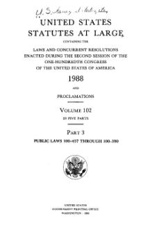 United States Statutes at Large Volume 102 Part 3.djvu