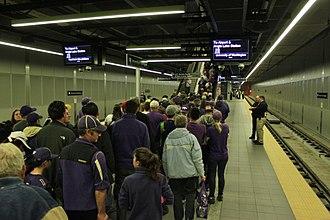 University of Washington station - The platform level at University of Washington station