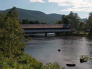 Upper Ammonoosuc River - The Upper Ammonoosuc at the covered bridge in Stark, New Hampshire
