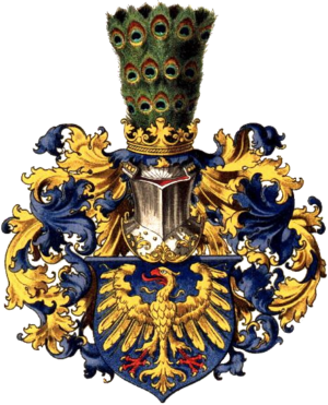 Upper Silesia - Coat of arms of Upper Silesia as drawn by Hugo Gerard Ströhl (1851–1919)