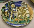 Urbino, francesco xanto avelli, piatto con enea da raffaello, stemma squarzoni, 1531.JPG