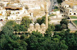 The mosque built on the site where, according to Muslim tradition, Abraham was born.