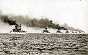 The Great White Fleet demonstrates US naval power in 1907, it was the first proof that the US Navy had blue-water capability