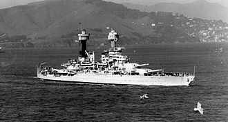 USS West Virginia (BB-48) - USS West Virginia (BB-48) in San Francisco Bay, c. 1934.