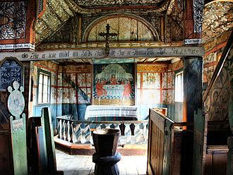 Uvdal Stave Church - Image: Uvdal Stave Church interior 01