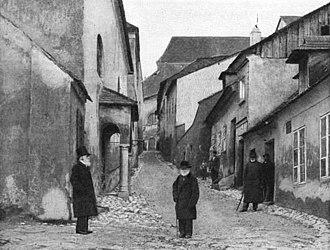 Mikulov - Jewish quarter (1900s)