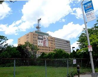 Verizon New Jersey - Large exchange building in Newark
