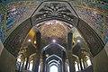 Vakil Mosque مسجد وکیل 18- نمای مسجد از داخل محراب (کاشی کاری ها و مقرنس سقف محراب مسجد وکیل شیراز).jpg