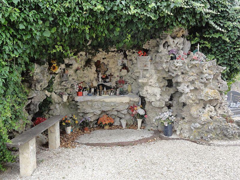 Val-d'Ornain (Meuse) Mussey, grotte de Lourdes
