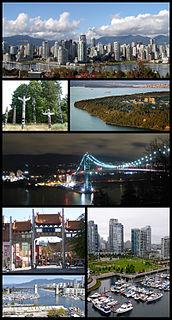 Vancouver City in British Columbia, Canada