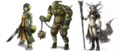 Variance in character design - Lia Turtle, Shain, and Cendrea from Chaos&Evolutions.png
