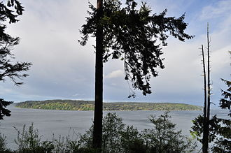 Vashon, Washington - Vashon Island from Point Defiance Park