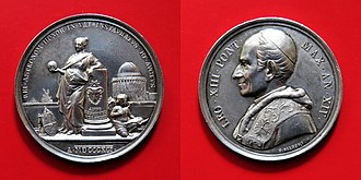 Vatican Observatory - Silver medal celebrating the 1891 Pope Leo XIII's inauguration of the new observatory