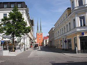Vaxjo cathedral,Vaxjo,Sweden (2561895675).jpg