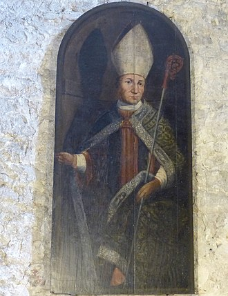 Lambert of Vence - Portrait of Lambert of Vence in the Vence Cathedral