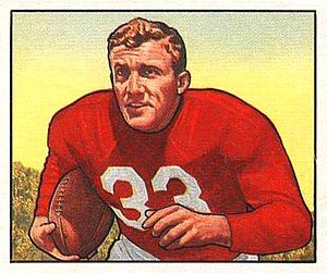 Vinnie Yablonski - Yablonski on a 1950 Bowman football card
